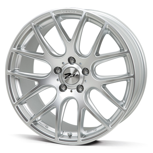 "NEW 18"" ZITO 935 CSL GTS ALLOY WHEELS IN HYPER SILVER WITH DEEPER CONCAVE 9.5"" REARS"